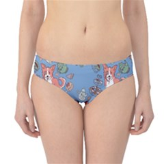 Dog Corgi Pattern Hipster Bikini Bottoms