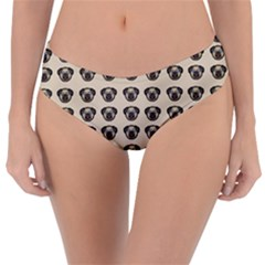 Puppy Dog Pug Pup Graphic Reversible Classic Bikini Bottoms