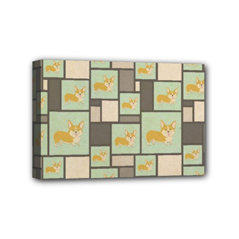 Quirky Corgi Kraft Present Gift Wrap Wrapping Paper Mini Canvas 6  X 4