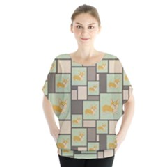 Quirky Corgi Kraft Present Gift Wrap Wrapping Paper Blouse
