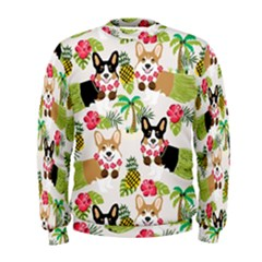 Hula Corgis Fabric Men s Sweatshirt