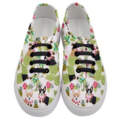 Hula Corgis Fabric Women s Classic Low Top Sneakers