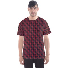 Black And Red Quilted Design Men s Sports Mesh Tee