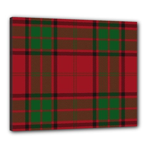 Red And Green Tartan Plaid Canvas 24  X 20