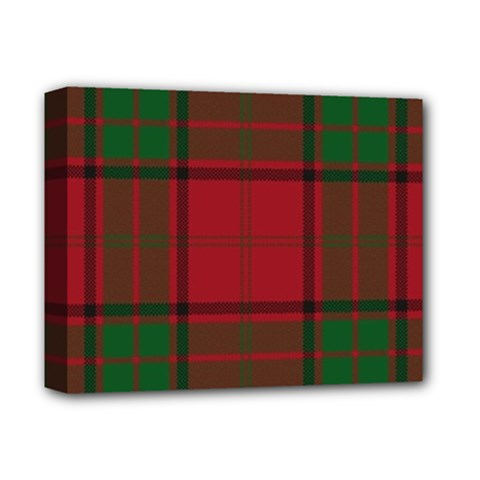 Red And Green Tartan Plaid Deluxe Canvas 14  X 11
