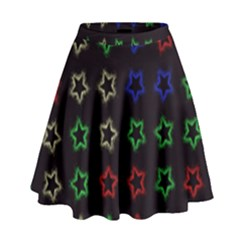 Spray Stars Pattern A High Waist Skirt