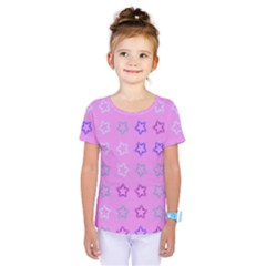 Spray Stars Pattern C Kids  One Piece Tee