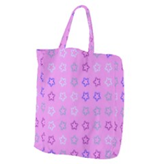 Spray Stars Pattern C Giant Grocery Zipper Tote