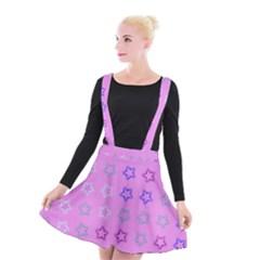 Spray Stars Pattern C Suspender Skater Skirt