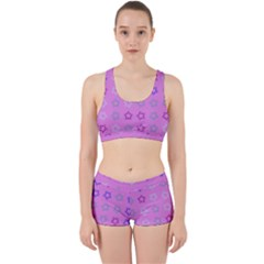 Spray Stars Pattern C Work It Out Sports Bra Set