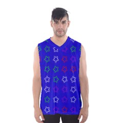 Spray Stars Pattern E Men s Basketball Tank Top