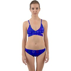 Spray Stars Pattern E Wrap Around Bikini Set