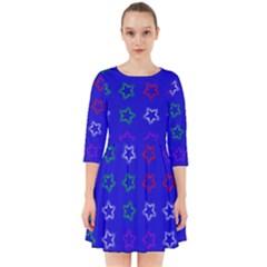 Spray Stars Pattern E Smock Dress