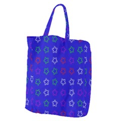 Spray Stars Pattern E Giant Grocery Zipper Tote