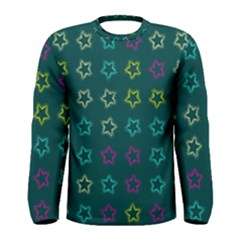 Spray Stars Pattern F Men s Long Sleeve Tee