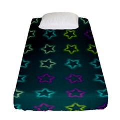 Spray Stars Pattern F Fitted Sheet (single Size)