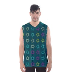 Spray Stars Pattern F Men s Basketball Tank Top