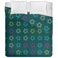 Spray Stars Pattern F Duvet Cover Double Side (california King Size)