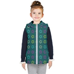 Spray Stars Pattern F Kid s Puffer Vest