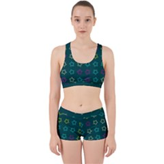 Spray Stars Pattern F Work It Out Sports Bra Set