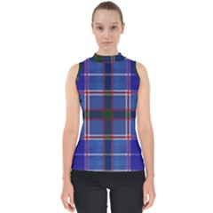 Blue Heather Plaid Shell Top