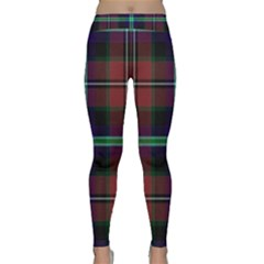 Purple And Red Tartan Plaid Classic Yoga Leggings