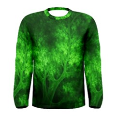 Artsy Bright Green Trees Men s Long Sleeve Tee