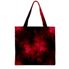 Artsy Red Trees Grocery Tote Bag