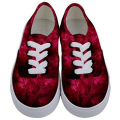 Artsy Red Trees Kids  Classic Low Top Sneakers