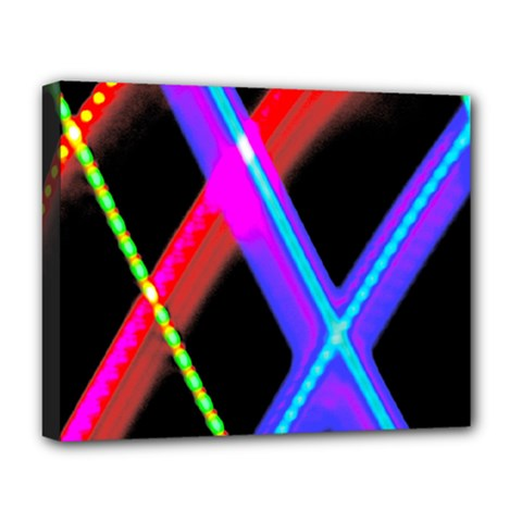 Xmas Light Paintings Deluxe Canvas 20  X 16