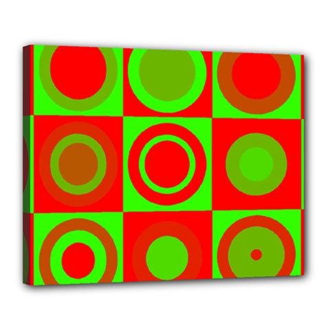 Redg Reen Christmas Background Canvas 20  X 16