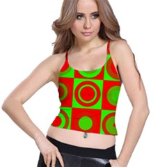 Redg Reen Christmas Background Spaghetti Strap Bra Top