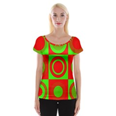 Redg Reen Christmas Background Cap Sleeve Tops