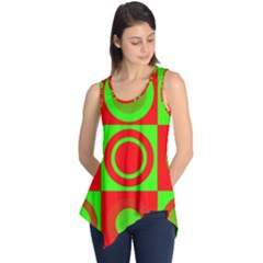 Redg Reen Christmas Background Sleeveless Tunic
