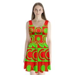 Redg Reen Christmas Background Split Back Mini Dress