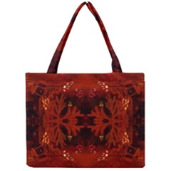 Red Abstract Mini Tote Bag