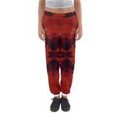 Red Abstract Women s Jogger Sweatpants