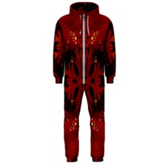 Red Abstract Hooded Jumpsuit (men)