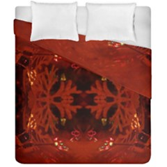 Red Abstract Duvet Cover Double Side (california King Size)