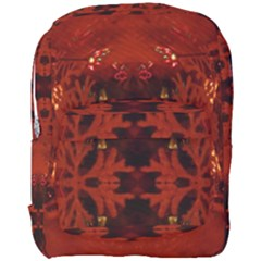 Red Abstract Full Print Backpack