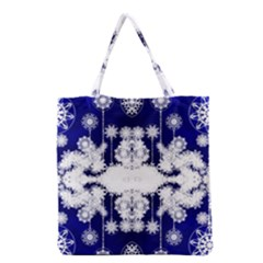 The Effect Of Light  Very Vivid Colours  Fragment Frame Pattern Grocery Tote Bag