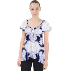 The Effect Of Light  Very Vivid Colours  Fragment Frame Pattern Lace Front Dolly Top