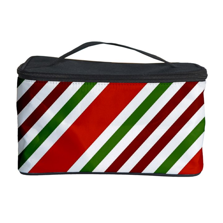 Christmas Color Stripes Cosmetic Storage Case