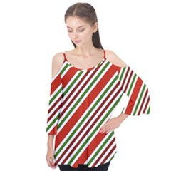 Christmas Color Stripes Flutter Tees