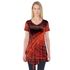 A Christmas Light Painting Short Sleeve Tunic