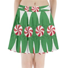 Candy Cane Kaleidoscope Pleated Mini Skirt