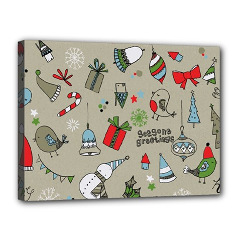 Beautiful Design Christmas Seamless Pattern Canvas 16  X 12