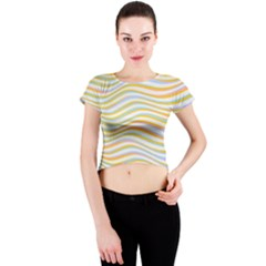 Art Abstract Colorful Colors Crew Neck Crop Top
