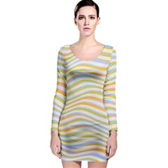 Art Abstract Colorful Colors Long Sleeve Bodycon Dress
