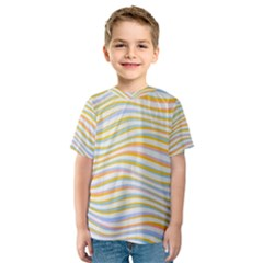 Art Abstract Colorful Colors Kids  Sport Mesh Tee